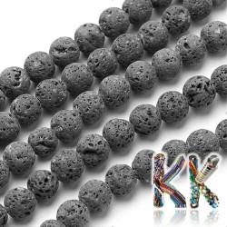 Přírodní láva - ∅ 4 mm - kuličky