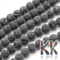 Přírodní láva - ∅ 8 mm - kuličky