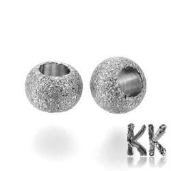 304 Nerezový oddělovací korálek s hvězdným prachem - kulička - ∅ 4 mm