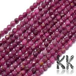 Přírodní rubín - ∅ 3,5 mm - broušené kuličky