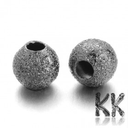 304 Pokovený nerezový oddělovací korálek s hvězdným prachem - kulička - ∅ 8 mm