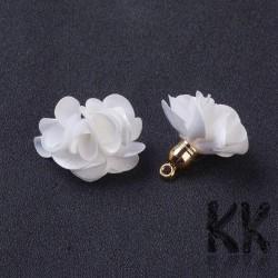 Přívěsek květinka - látkový střapec - 25-30 x 28-35 mm