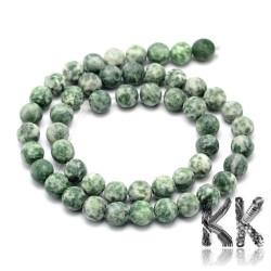 Přírodní zmatnělý zelený jaspis - ∅ 4 mm - kulička
