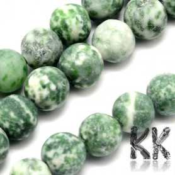 Přírodní zmatnělý zelený jaspis - ∅ 8 mm - kulička