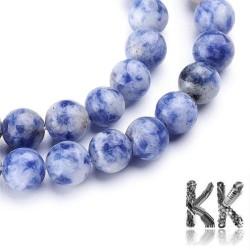 Přírodní modrý jaspis - ∅ 4 mm - kulička