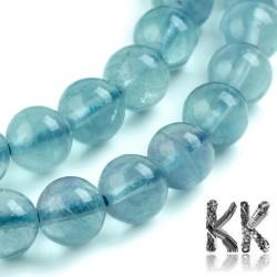 Přírodní modrý fluorit - ∅ 6 mm - kulička