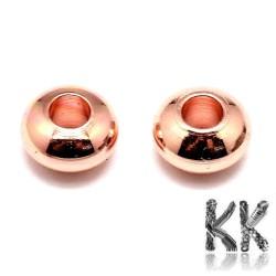 Kovový oddělovací korálek - rondelka - ∅ 4 x 2,5 mm