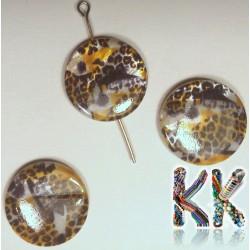 Perleťové placičky - potištěné - ∅ 20 mm - leopard