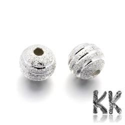 Mosazné korálky s hvězdným prachem - ∅ 8 mm - dekorovaná kulička