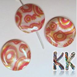 Perleťové placičky - potištěné - ∅ 20 mm - vlnky
