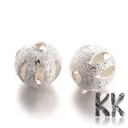 Mosazné korálky s hvězdným prachem - ∅ 8 mm - gravírovaná kulička