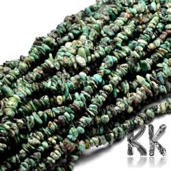 Přírodní africký tyrkys - zlomky - 4 x 15 - 5 x 8 mm - váha 5 g (cca 6 cm)