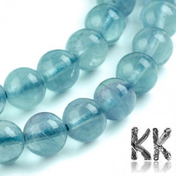 Přírodní modrý fluorit - ∅ 8 mm - kulička - kvalita A