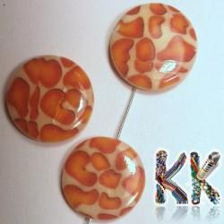 Perleťové placičky - potištěné - ∅ 20 mm - leopardi kůže