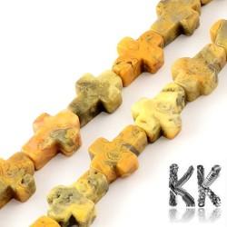 Přírodní bláznivý achát - kříž - 16-17 x 12-13 x 4-6 mm