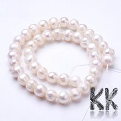 Přírodní perly - ∅ 8 ~ 9.5 mm - oválky
