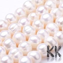 Přírodní perly - ∅ 8 - 9,5 mm - oválky