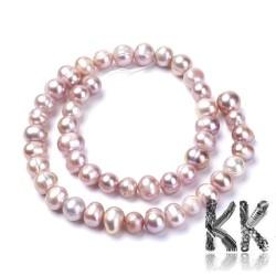 Přírodní perly - ∅ 8 ~ 9x7 ~ 10 mm - oválky