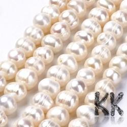 Přírodní perly - ∅ 8 - 9 mm - oválky
