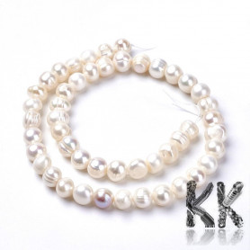 Přírodní perly - ∅ 8 ~ 9 mm - oválky