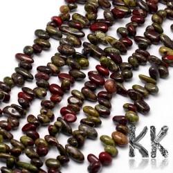 Přírodní jaspis dračí krve - zlomky -10-14 x 5-6 x 4-5 mm - váha 5 g (cca 3 cm)