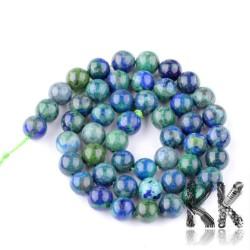 Syntetický azurit - ∅ 8 -9 mm - barevná kulička.