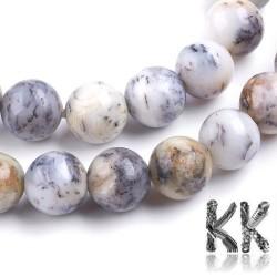 Přírodní bílý africký opál - ∅ 8 mm - kulička