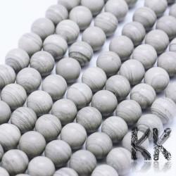 Přírodní stříbrnopruhatý jaspis - ∅ 8 mm - kulička
