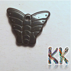 Přívěsek z hematitu - motýlek - 20 x 15 x 3 mm