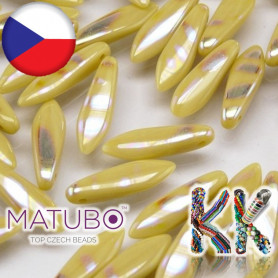 MATUBO™ JAZÝČKY - neprůhledné s pokovenými proužky - 5 × 16 mm