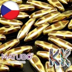 MATUBO™ JAZÝČKY - neprůhledné měděnými kroužky - 5 × 16 mm
