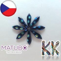 MATUBO™ JAZÝČKY - neprůhledné s pokovenými kroužky - 5 × 16 mm