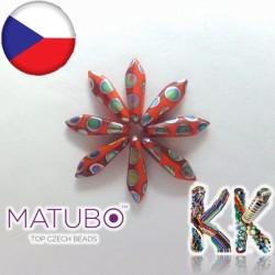 MATUBO™ JAZÝČKY - matné s pokovenými kroužky - 5 × 16 mm