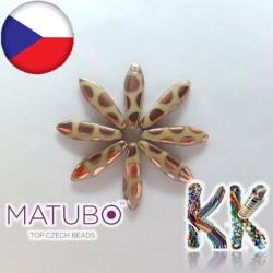 MATUBO™ JAZÝČKY - neprůhledné s měděnými kroužky - 5 × 16 mm