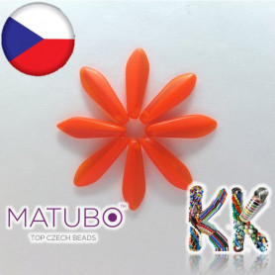 MATUBO™ JAZÝČKY - polomatné poloprůhledné - 5 × 16 mm