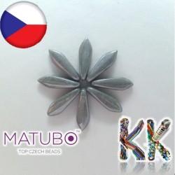 MATUBO™ JAZÝČKY - neprůhledné perleťové - 5 × 16 mm