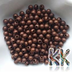 Kovové korálky s hvězdným prachem - ∅ 4 mm