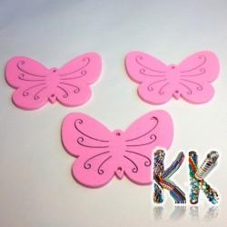 Dřevěný přívěsek - motýl - 46 x 34 x 2 mm