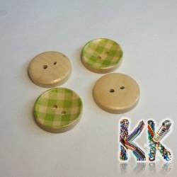 Dřevěný knoflík - s proužky - ∅ 20 x 4 mm