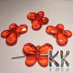 Akrylový přívěsek - broušený motýl - 33 x 25 x 8 mm