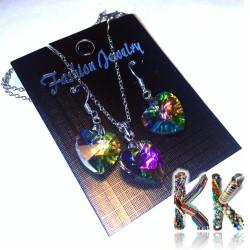 Valentýnský srdíčkový set - náhrdelník + náušnice