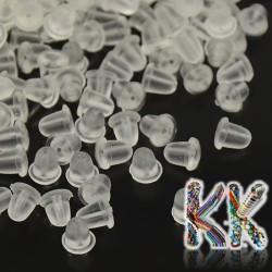 Silikonová náušnicová zarážka - 4 x 4 mm - množství 1 g (cca 25 ks)