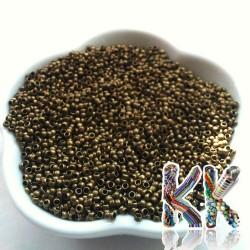 Mosazný zamačkávací rokajl - soudeček - ∅ 2 mm - množství 1 g (cca 80 ks)