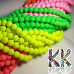 Matné kuličky - neonové, neprůhledné - ∅ 10 mm