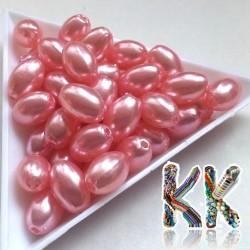 Akrylové perly - rýže - 11 x 7,5 mm