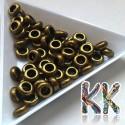 Kovový oddělovací korálek - kroužek - ∅ 7 x 3 mm