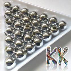 Akrylové korálky s kovovým leskem - ∅ 8 mm (2 ks)