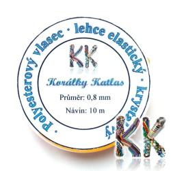 Polyesterové vlákno - čiré barvené - ∅ 0,8 mm - návin 10 m
