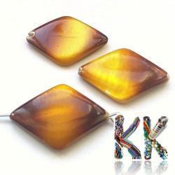 Perleťový kosočtverec - zlatý - 28 x 18 x 4 mm