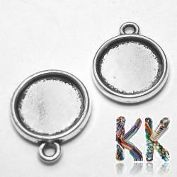 Kruhový přívěsek s lůžkem - pro kabošon ∅ 12 mm